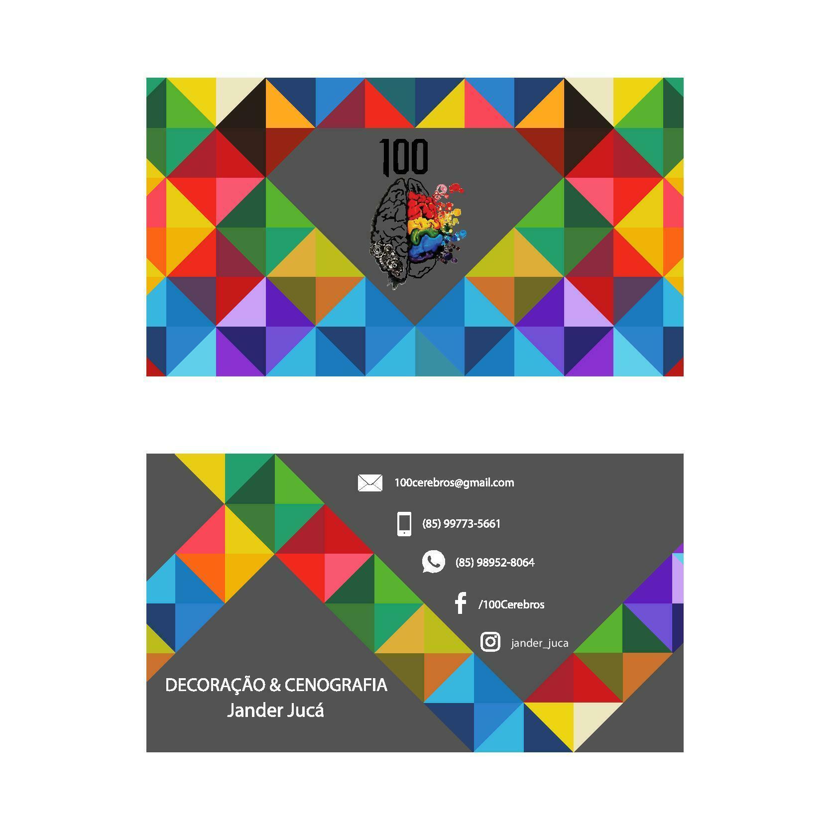 Extremamente Logotipo e Cartão de Visita - 100 Cérebros Cenografia & Decoração  PX97